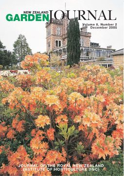 Front Cover: Azaleas in full flower at Larnach Castle during spring. Image courtesy Margaret and Sophie Barker.