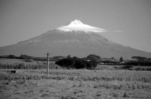 Figure 1. Mt Taranaki/Egmont, the most recent volcano of the Taranaki Volcanic Succession.