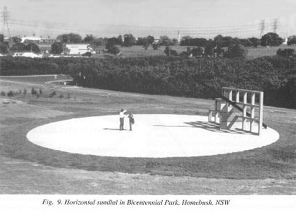 Fig. 9. Horizontal sundial in Bicentennial Park